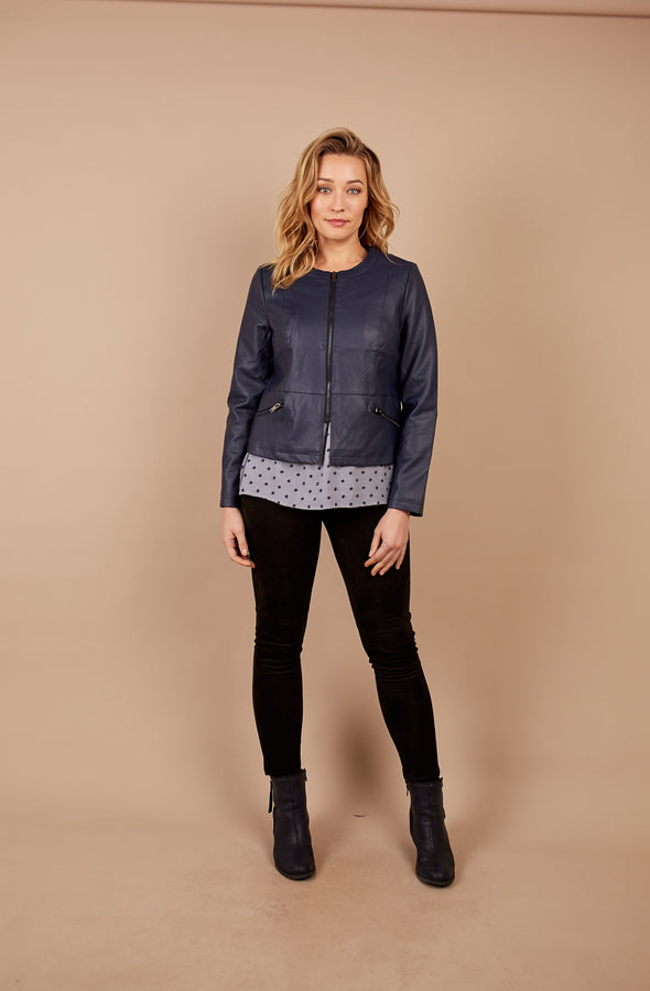 Holmes and Fallon PU Centre Zip Jacket