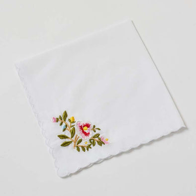 Embroidered Handkerchiefs - Floral