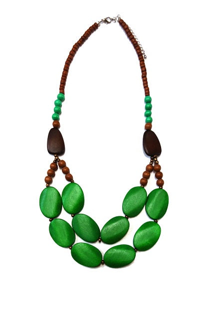Wood bead Necklace N6-2748FMY
