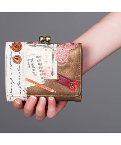Vendula Vintage Stationary Clip Top Fold Wallet
