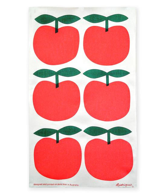 Big Apples - Red Tea Towel