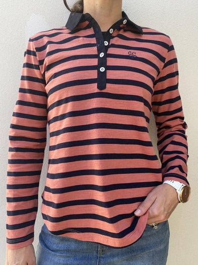 Goondiwindi Cotton LS Stripe Polo
