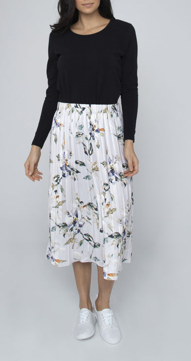 Jump Watercolour Abstract Floral Pleat Skirt