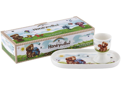 Honey Pot Plate And Egg Cup Set