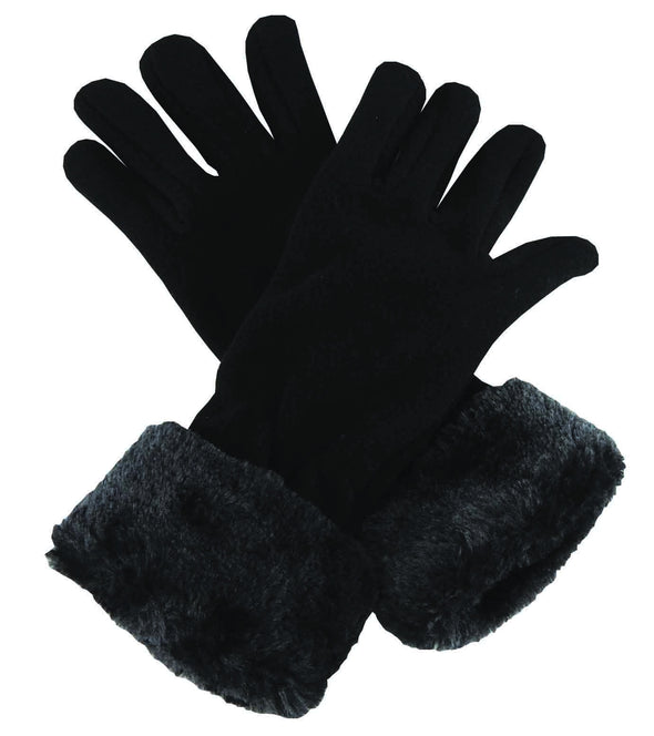 Polar Fleece Gloves - Black