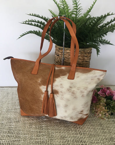 Portugal Cowhide Shopper Tote