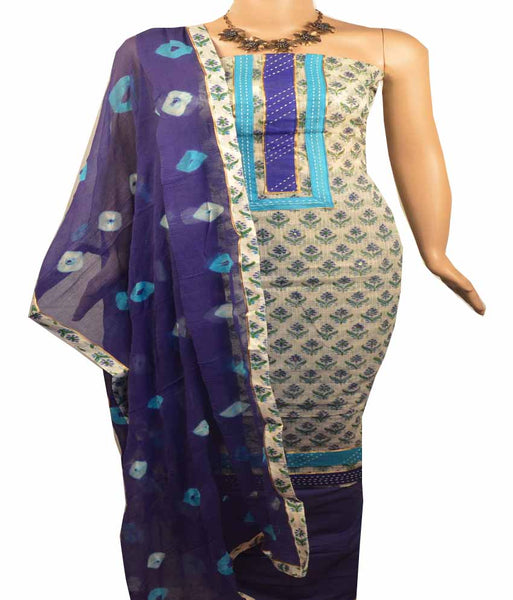 Churidar Material:- Top in  Net Cotta  , Duppata in  Crape and  Bottom in   Cotton  (Un-stitched) - 180100075