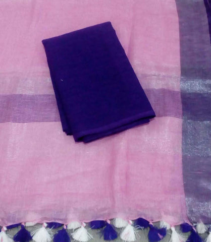 Churidar Material:- Top in  Handloom Cotton  , Duppata in Linen Without  Bottom   (Un-stitched) -190100105