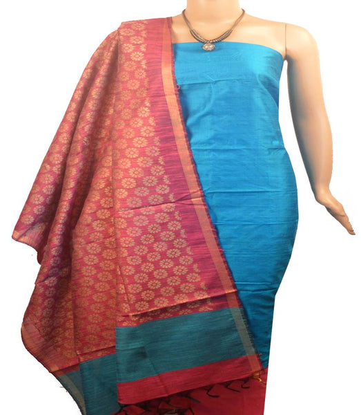 Churidar Material:-Top In Raw Silk  Duppata in Raw Silk and  Bottom in   Cotton Silk (Un-stitched) -190100032