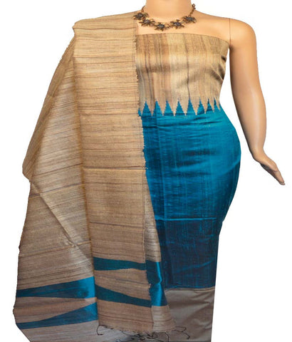 Churidar Material:- Top in Dupion Temple Raw Silk , Duppata in Jute Silk and  Bottom in   Cotton Silk (Un-stitched)