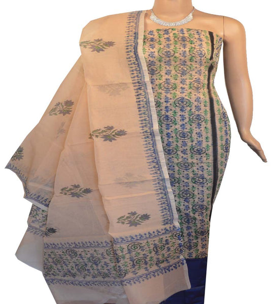 Churidar Material:- Top In Net Cotta  , Duppata in Net Cotta  and  Bottom in  Cotton (Un-stitched)-170100162