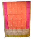 Churidar Material:- Top in   Tussar Silk , Duppata in Tussar Silk and  Bottom in  Cotton Silk (Un-stitched)