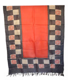 Churidar Material:- Top in   Chanderi , Duppata in   Tussar and  Bottom in Raw Cotton  (Un-stitched)