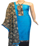Churidar Material:- Top in   Chandery  , Duppata in  Chandery and  Bottom in   Cotton  (Un-stitched)