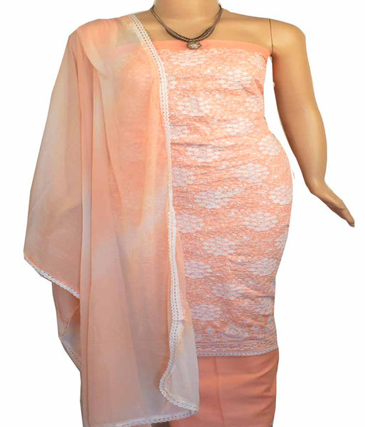 Churidar Material:- Top in  cotton   , Duppata in  Crape and  Bottom in   Cotton  (Un-stitched) - 170100656