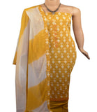 Churidar Material:- Top in   Cotton , Duppata in Crape and  Bottom in   Cotton  (Un-stitched) -190100119