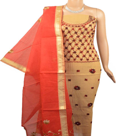 Churidar Material:- Top in Net  Cotta  , Duppata in  Net Cotta  ,WithOut Bottom