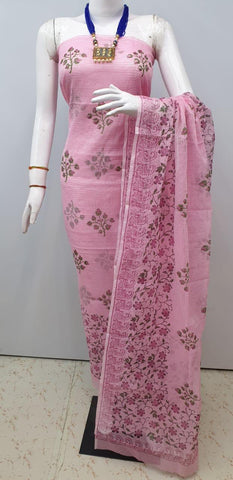 Churidar Material:- Top in   cotta  , Duppata in cotta and  Bottom in   Cotton  (Un-stitched) -190100211