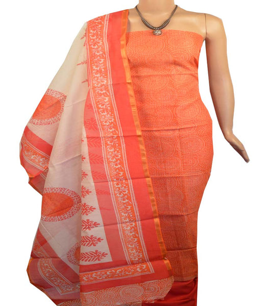 Churidar Material:- Top in   Chanderi  Silk , Duppata in Chanderi and  Bottom in   Cotton  (Un-stitched) -190100122