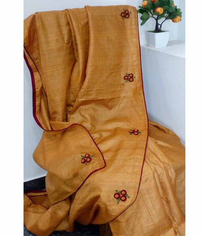 Dessy Tussar Silk Embroidery Work Saree Saree  - 180500010