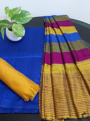 Churidar Material:-Top In Raw Silk  Duppata in Raw Silk and  Bottom in   Cotton Silk (Un-stitched) -190100342