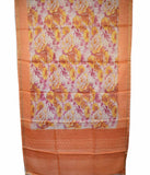 Churidar Material:- Top in   Tussar Silk , Duppata in   Tussar  Silk  and  Bottom in  Cotton Silk (Un-stitched)-180100042