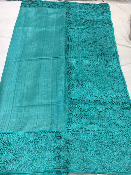 Dessy Tussar Silk Cut Work Saree Saree  - 170500006