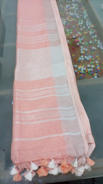 PURE LINEN SAREE - 190500011
