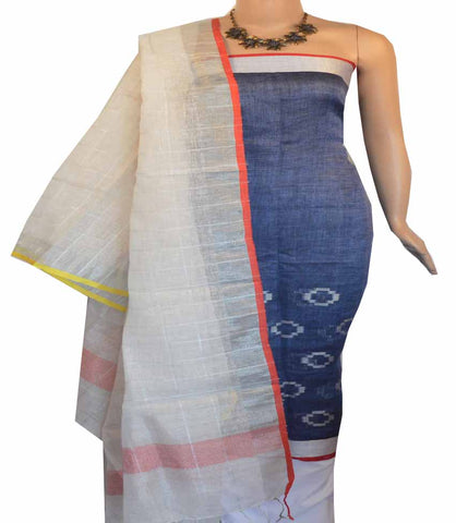 Churidar Material:-Top in Linen  Duppata in Linen and  Bottom in   Cotton Silk (Un-stitched) -180100419