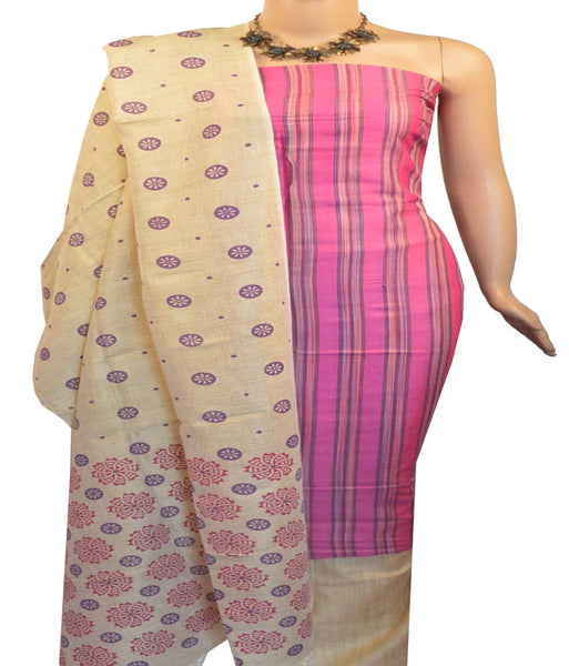 Churidar Material:- Top in Semi Tussar , Duppata in Semi Jute and Bottom in Jute Cotton (Un-stitched)