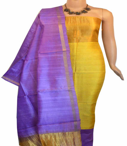 Churidar Material:-Top in Raw Silk  Duppata in Raw Silk and  Bottom in   Cotton Silk (Un-stitched) -180100417