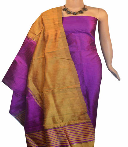 Churidar Material:-Top in Raw Silk  Duppata in Raw Silk and  Bottom in   Cotton Silk (Un-stitched) -180100408