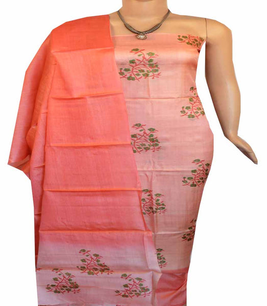 Churidar Material:- Top in Dessy Tussar Silk  , Duppata  Dessy Tussar Silk  and  Bottom in   Cotton Silk  (Un-stitched) - 180100498