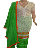 Churidar Material - Top in Net Cotton,Dupatta in Chiffon, Bottom in Silk (Semi Stitched) 140200043 - HAMALSTAR - 1