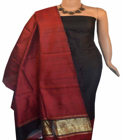 Churidar Material:-Top in Raw Silk  Duppata in Raw Silk and  Bottom in   Cotton Silk (Un-stitched) -180100411
