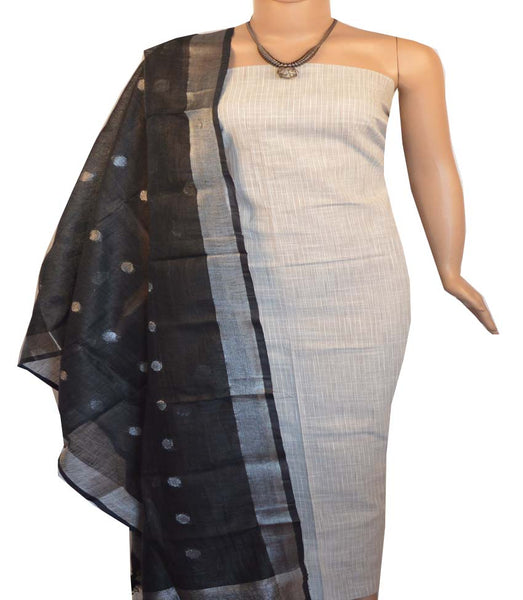 Churidar Material:- Top in  Handloom Cotton  , Duppata in Linen Without  Bottom   (Un-stitched) -190100101