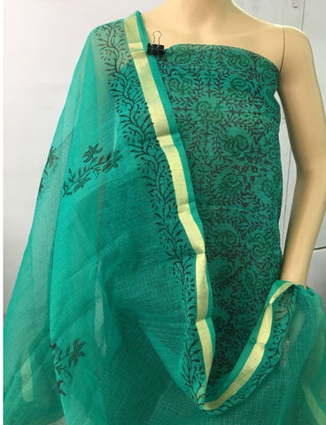 Churidar Material:- Top in   cotta  , Duppata in cotta and  Bottom in   Cotton  (Un-stitched) -190100219