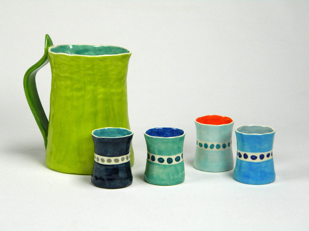 Pitcher and Rock Cups Set