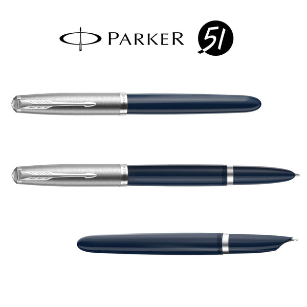 Parker 51 midnight blue CT vulpen - P.W. Akkerman Den Haag