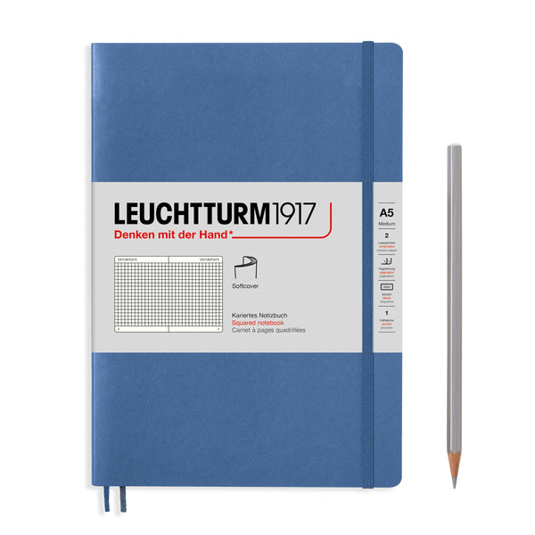 Leuchtturm 1917 Notitieboek Softcover Medium A5 ruit - P.W. Akkerman Den Haag
