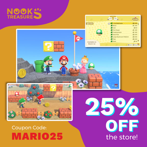 ACNH Mario Items Promotion