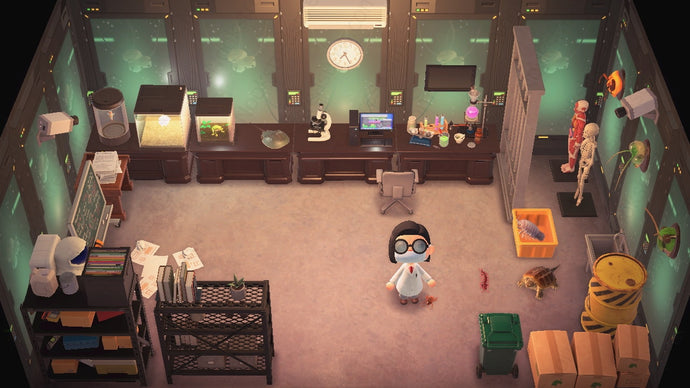 Animal Crossing New Horizons ACNH Laboratory Room Design