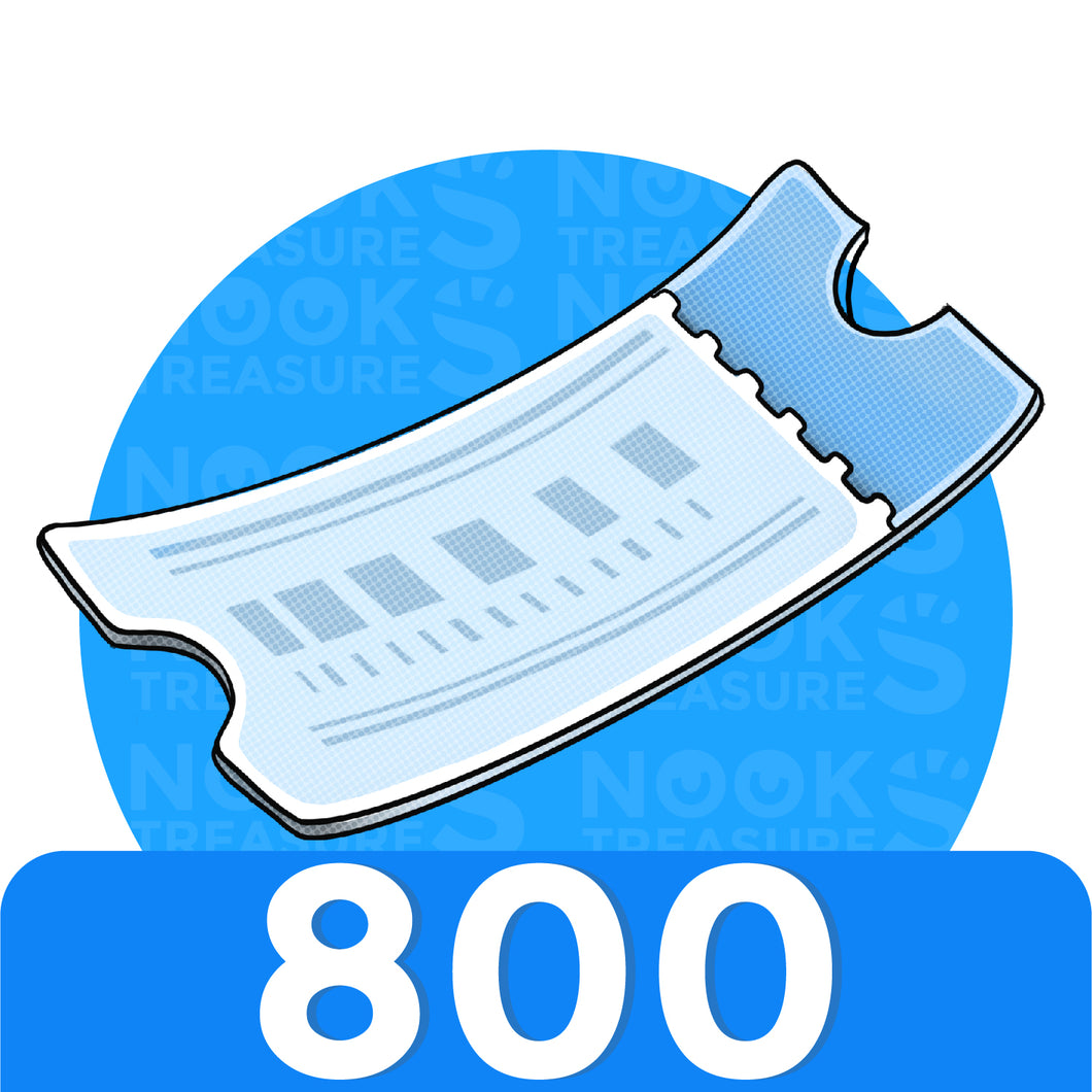 Nook Miles Tickets - 800