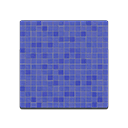 Blue Mosaic-Tile Flooring