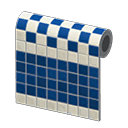 Blue Two-Toned Tile Wall