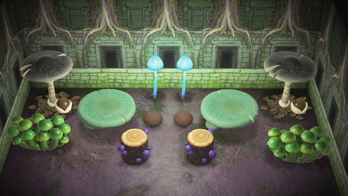Animal Crossing New Horizons ACNH Mushroom Furniture Set