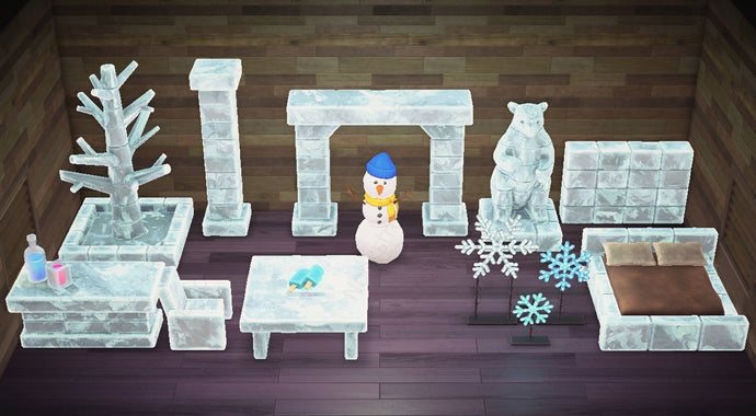Animal Crossing New Horizons ACNH Frozen Furniture Set 1