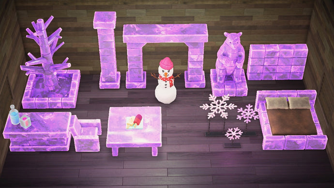 Animal Crossing New Horizons ACNH Frozen Furniture Set