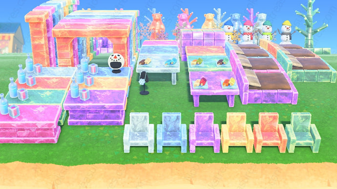 Animal Crossing New Horizons ACNH Frozen Furniture Collection