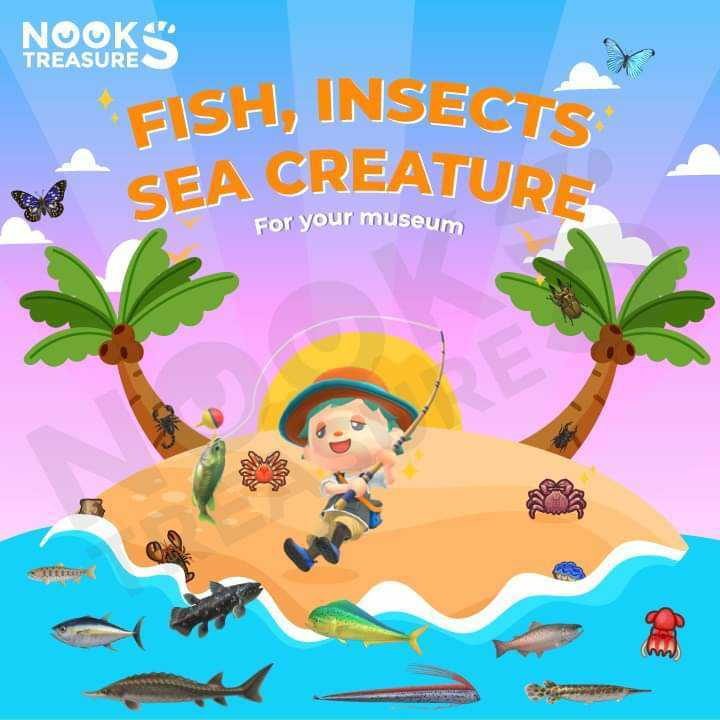 All Fish, Insects and Sea Creatures!
